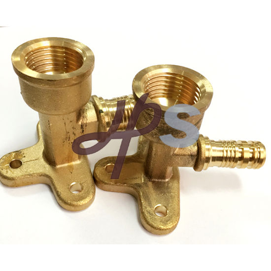 Brass Pex Xfpt Wallplate Elbow pictures & photos