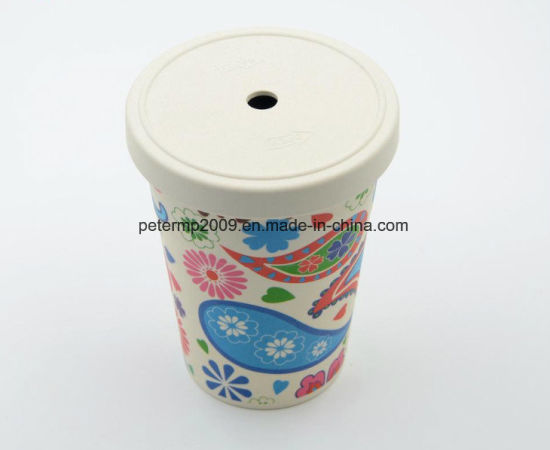 450ml Bamboo Fiber Eco-Friendly Coffee Cup with Straw and Lid pictures & photos