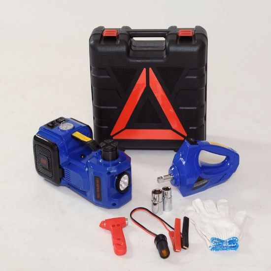 Blue Color 3 in 1 Hydraulic Car Jack Lift Tool Set for Tyre Change pictures & photos