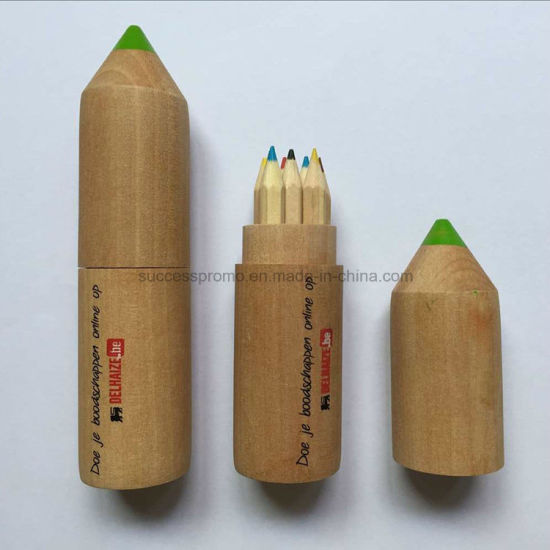 Promotional Colored Pencil Set in Wooden Tube