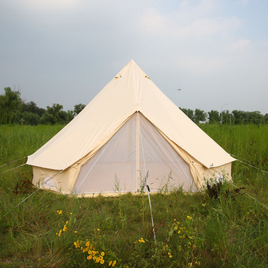 Dia 3m 4m 5m 6m 100% Cotton Waterproof Mesh C&ing Hotel Bell Tent Canvas Bell Tent & China Dia 3m 4m 5m 6m 100% Cotton Waterproof Mesh Camping Hotel ...
