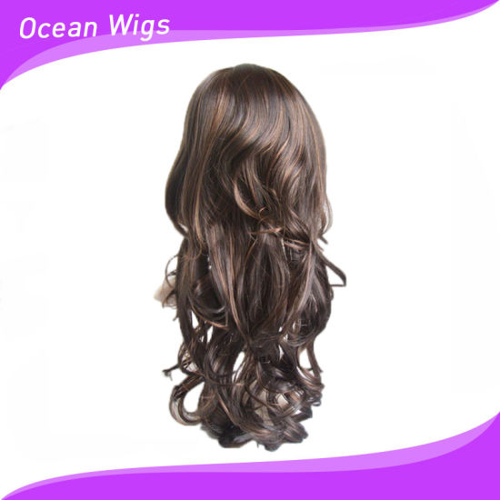 Long Style Synthetic Hair Wig Wavy Hair Wig pictures & photos