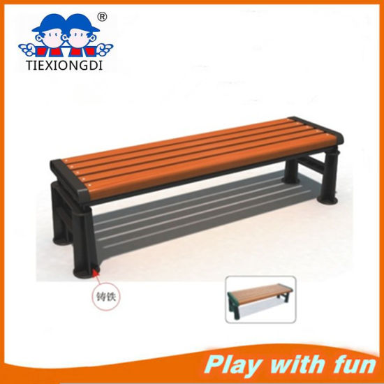 China New Design Wood And Metal Park Bench China Wooden Garden