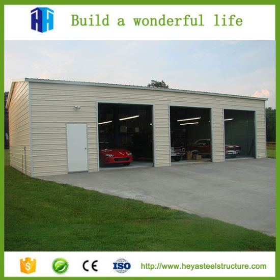 Low Cost Factory Workshop Steel Structure Building Car Garage Design