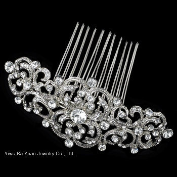 Silver Swarorvski Crystal Wedding Bridal Hair Jewelry Comb pictures & photos