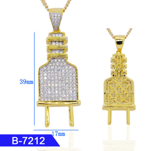 a631e4aad Men′s Hip Hop Rapper Fashion Jewelry 14K Gold Plated 925 Sterling Silver or  Brass Cubic Zirconia Plug Charms Pendants for Wholesale