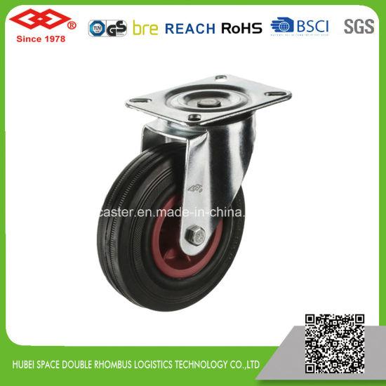 Black Rubber Industrial Caster (P101-31D075X25)