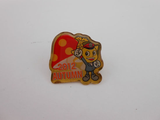 Square Offset Printed Badge, Epoxy-Dripping Butterfly Badge (GZHY-OP-020) pictures & photos
