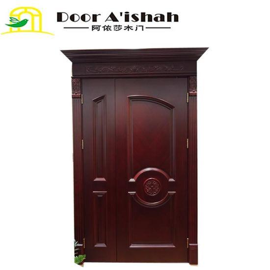 China Exterior Modern Fancy Latest Models Design Solid Wood Door