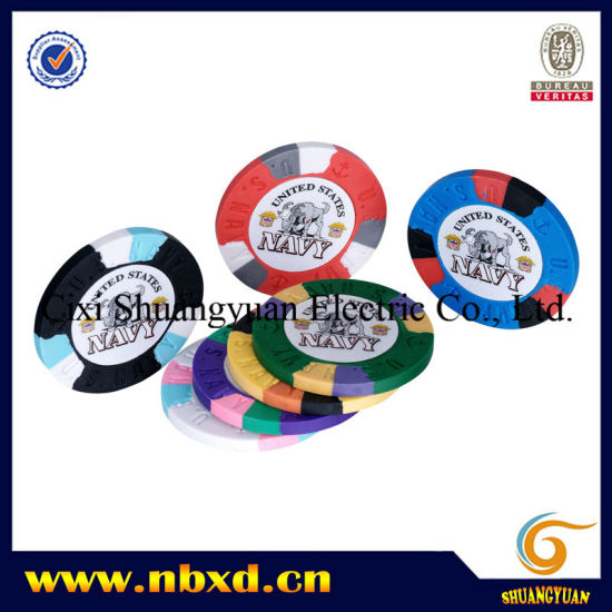 9.5g 3color Pure Clay Navy Sticker Chip (SY-C02-1) pictures & photos