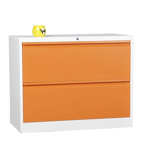 Metal Office Furniture Lateral 3 Drawer Steel File Cabinet For Store Manage  Document