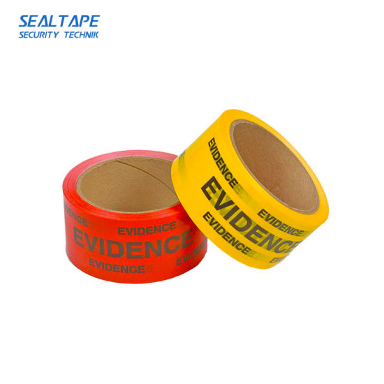 Shenzhen Standard Office Depot Tamper Proof Evident Indicating Security  Void BOPP Yellow Tape