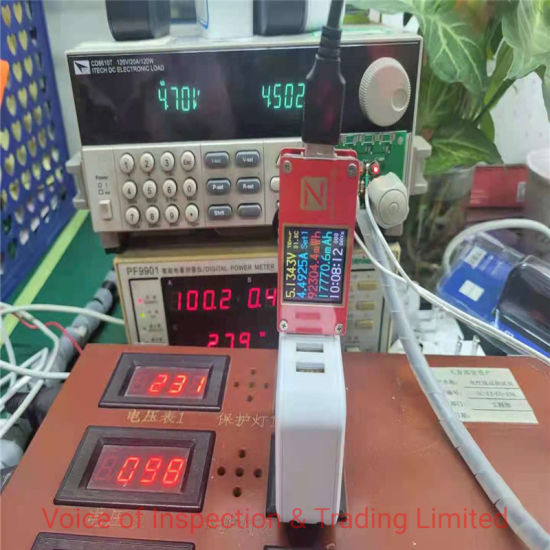 Multi-Port Chargers Quality Check / Final Random Inspection for Electronic Appliance in China