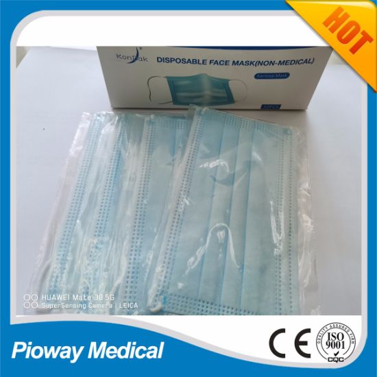 3 Ply Disposable Face Mask, Individual Packaging , Immediately Shipment