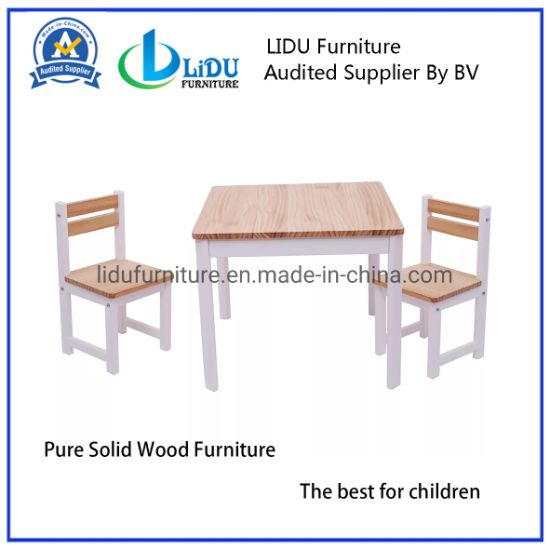Wooden Preschool Table with Chair Pre-School Table Kids Play Table