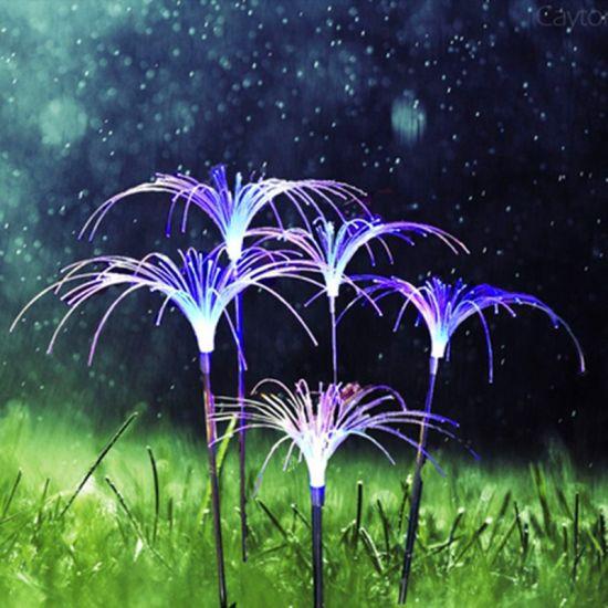 LED Outdoor Fiber-Optic Reed Lamp Illuminates The Night Scene of Flower Sea, Grass, Fireworks, Fountain, Landscape and Ground Lamp