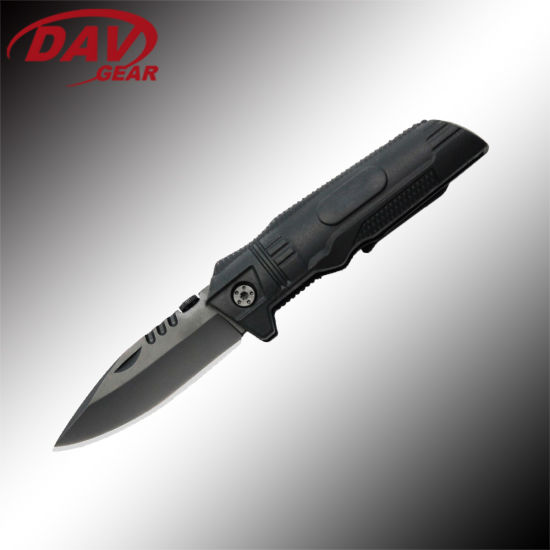 Tactical Series 4.1 Inch Closed Tactical Knife with High Quality 440 Stainless Steel Blade and Nylon Glass Fiber Handle for EDC Survival Combat and Self Defense pictures & photos