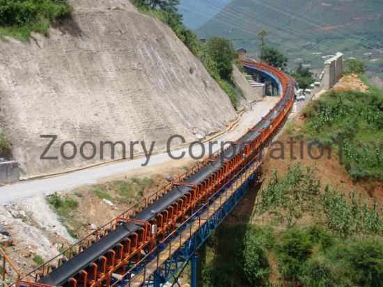 Long-Distance Curved Belt Conveyor System for Power Plant
