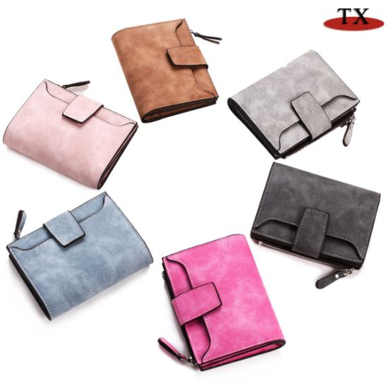 Cute Student Wallet Ladies Wallet Korean Zipper Buckle Matte Leather Coin Purse pictures & photos