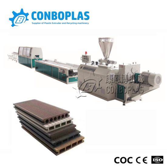 Plastic Extruder Machine Wood Plastic Composite Wood PVC Deck Making Machine pictures & photos