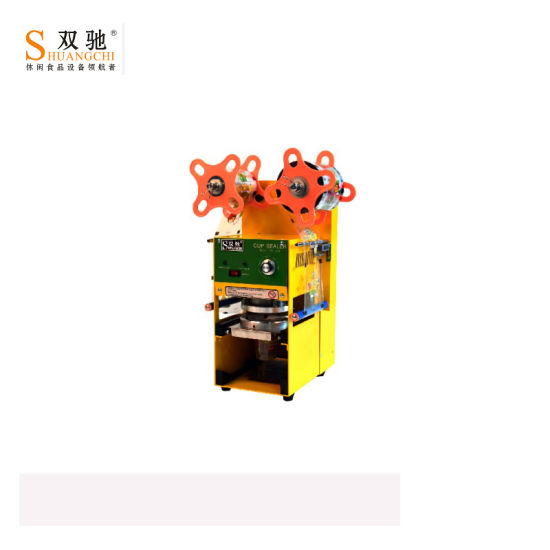 Catering Equipment Tea Cup Sealing Machine pictures & photos
