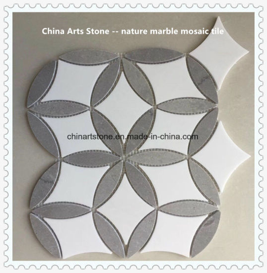 Nature Thassos White Marble Mosaic Pattern for Tile pictures & photos