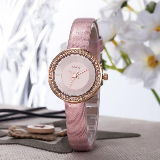 Trade Assurance Ultra Light Slim Stone Ladies Wrist Watches Wy-090