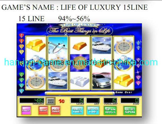 Life of Luxury 15 Line Slot Arcade Gambling Casino Game Machine