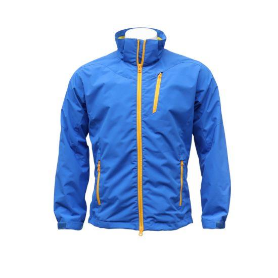 Men's and Women's Zip-up Water-Repellent Windproof Jacket with Foldable Hood
