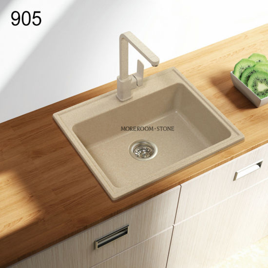 Artificial Solid Surface Kitchen Quarz Stone Wash Sink