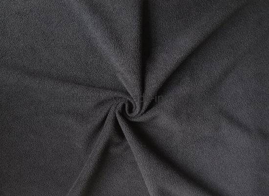 67857ac0125 100% Polyester Pk One Side Anti-Pilling Polar Fleece Fabric in Black Color