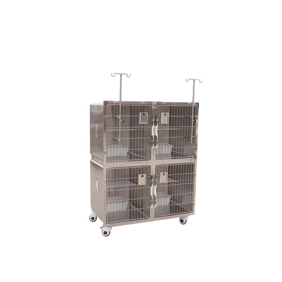 Veterinary Medical Stainless Steel New Style Cat Cage pictures & photos
