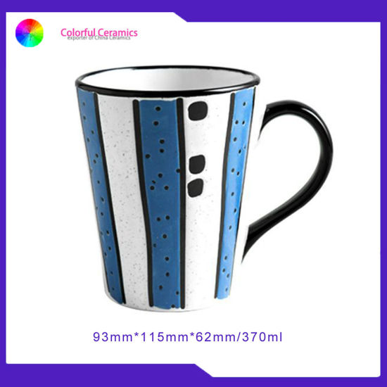 European Ceramic Coffee Mug Stone Ware Handprinting V Mug Cups pictures & photos