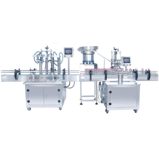 Direct Sales Fully Automatic 4 Heads Liquid Bottle Detergent Filling Sealing Machine