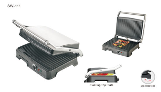 6 Slicer Electric Sandwich Press Contact Grill