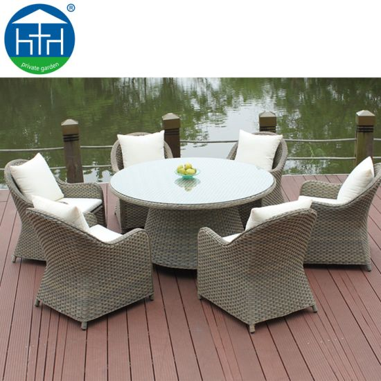 Wholesales Outdoor Dining Set Rattan Wicker Table and Chair Garden Furniture