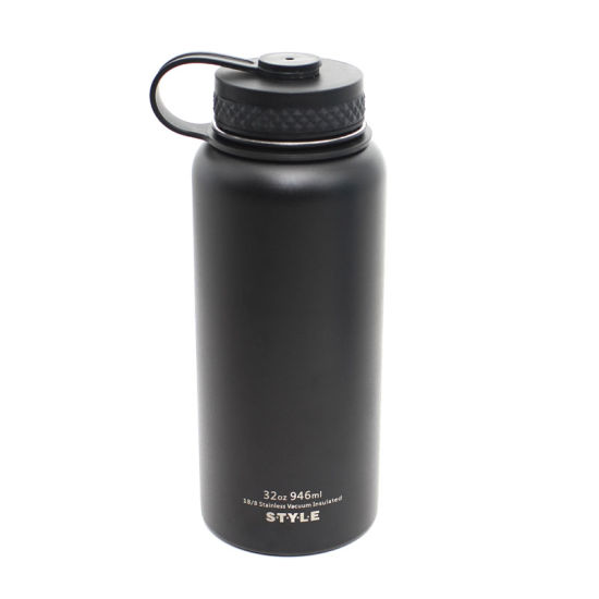 18oz-64oz Black Powder Coating Double Wall Hydro Stainless Steel Vacuum Flask