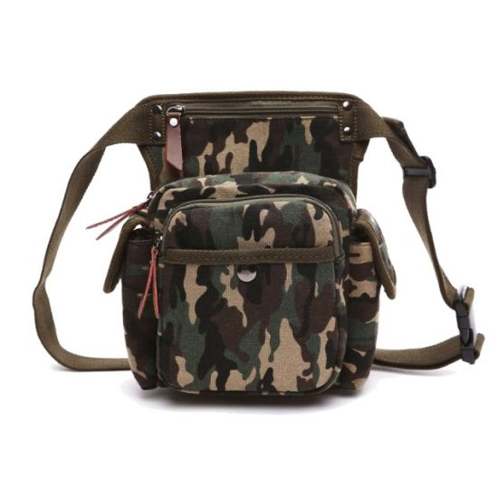 Canvas Camouflage Outdoor Sport Running Waist Pack Tactical Camera Waist Bag