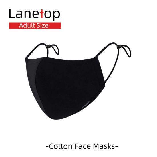 Wholesale Disposal Custom Design Reusable Anti Pollution Anti Water Black Fashion Cotton Face Masks