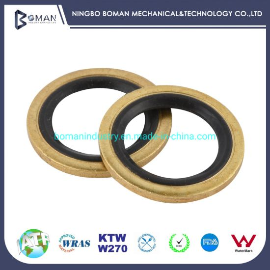 Self-Centering Bonded Seal Rubber Product FKM Bonded Seal