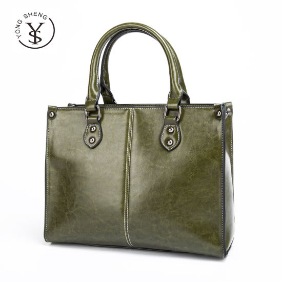 2021 Wholesale Genuine Bolsos Oil Wax Cowhide Leather Ladies Crossbody Women Handbags
