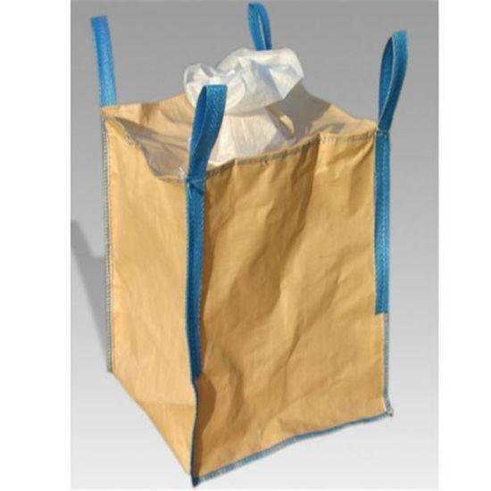 China Flat Bottom Ton Bag FIBC Bulk Bag Woven Polypropylene