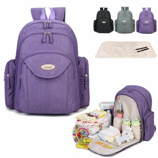 China Wholesale Large Capacity Organizer Mummy/Diaper Bag for Baby Nappy