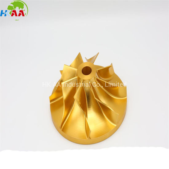 5 Axle CNC Milling Custom Made Bronze Alloy Jet Engine Pump Impeller pictures & photos