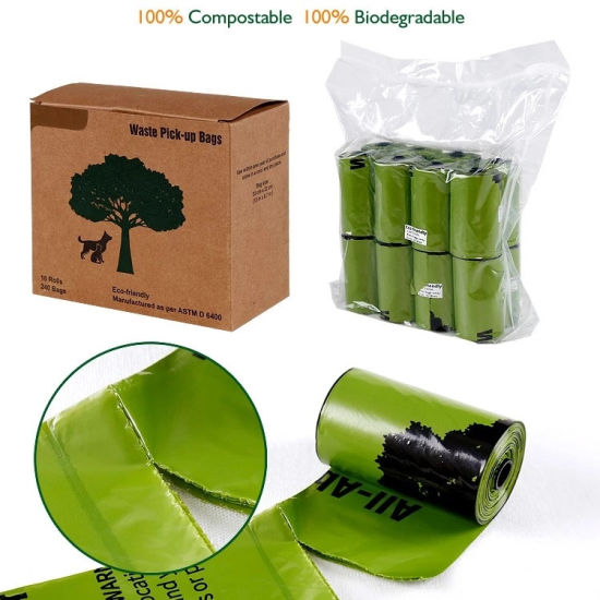 100% Biodegradable Disposable Pet Waste Dog Poop Bags Customized
