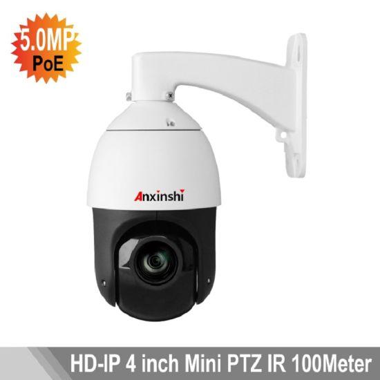 China 5MP SMD IR Night Vision 100m Poe IP PTZ Camera - China