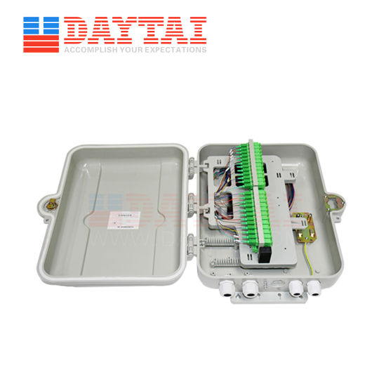 Pole Mounted Outdoor 48 Port Fiber Optic Distribution Box with Sc APC Adapter