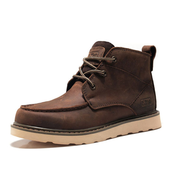 Wholesale Cheap Elastic High Top Ankle Men Desert Winter Boots