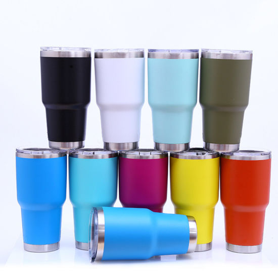 91b4b44c2cd 30 20 14 12 10 Oz Travel Stainless Steel Cup 304 Vacuum Tumbler Wine  Glasses Insulated Mug Lid Car Tumblers Cups 30oz 20oz 14oz 12oz 10oz
