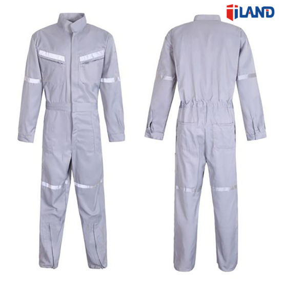 Safety Uniform Cotton Workwear Coverall with Reflective Tapes